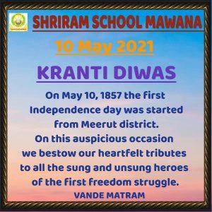 10th May 2021 Kranti Diwas